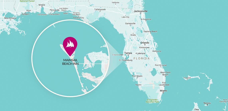 Map of Mainsail Beach Inn